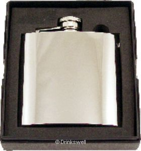 Polished Steel 6oz Flask